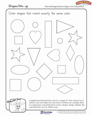 Critical Thinking Skills Worksheet New Gallery Activities with Shapes for Kindergarten