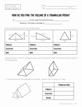 Cross Section Worksheet 7th Grade Elegant 7th Grade Volume Unit with Cross Sections 7 G 6 by