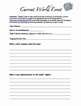 Current events Worksheet Pdf Beautiful 124 Best Current events Plans Images On Pinterest