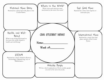 Current events Worksheet Pdf Beautiful Current events with Cnn 10 A Graphic organizer for the Week