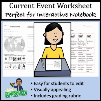 Current events Worksheet Pdf Best Of Current event Worksheet for Interactive Notebook by
