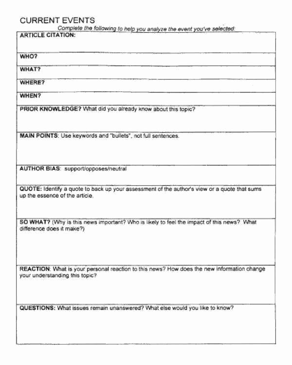 Current events Worksheet Pdf Elegant Current events Worksheet