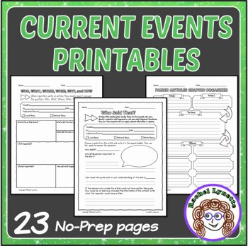 Current events Worksheet Pdf Luxury Current events Printables Use with Any Article Great