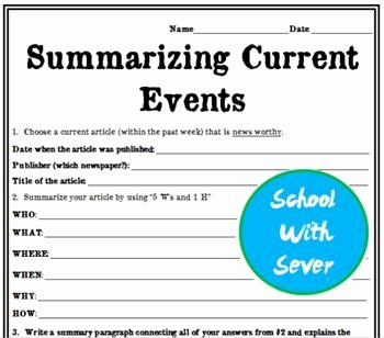 Current events Worksheet Pdf New 25 Best Ideas About Current events Worksheet On Pinterest