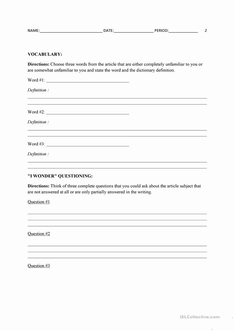 Current events Worksheet Pdf New Current events Template Worksheet Free Esl Printable