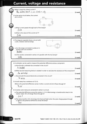 Current Voltage and Resistance Worksheet Elegant Electricity Charge Current Voltage Energy Resistance by