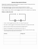 Current Voltage and Resistance Worksheet Fresh Measuring Current Voltage and Resistance by Rpotter1