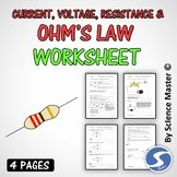 Current Voltage and Resistance Worksheet Lovely Science Master Teaching Resources