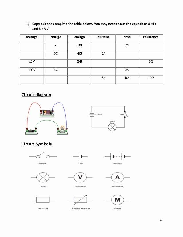 Current Voltage and Resistance Worksheet Unique Current and Voltage In Series and Parallel Worksheet