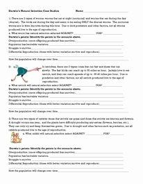 Darwin Natural Selection Worksheet New Darwin Natural Selection Worksheet Classroom