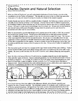 Darwin's Natural Selection Worksheet Answers New Tangstar Science Charles Darwin Worksheet Tangstar Best