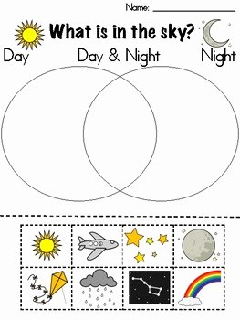 Day and Night Worksheet Awesome Day and Night sort by Zoe Brew