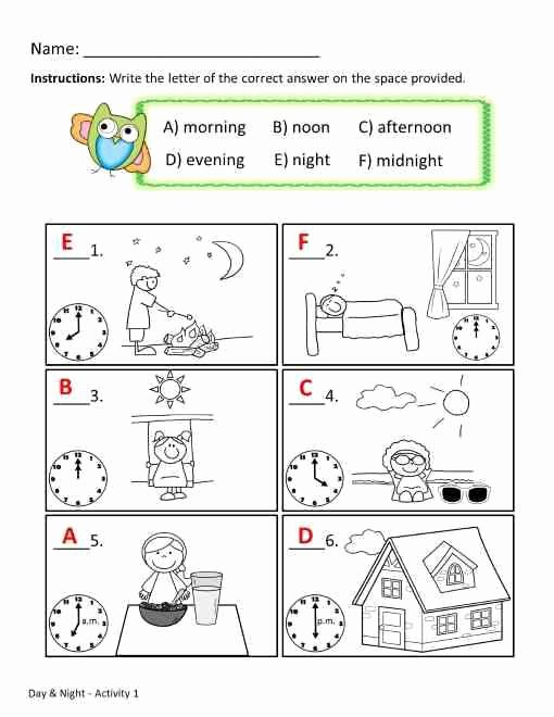 Day and Night Worksheet Beautiful Telling Time Worksheets Printables & Worksheets