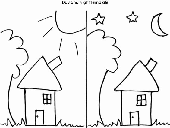 Day and Night Worksheet Elegant Night Templates and Worksheets On Pinterest