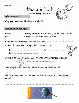 Day and Night Worksheet Inspirational Day and Night Science by Jacobs Teaching Resources