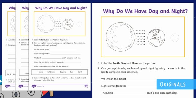 Day and Night Worksheet Lovely why Do We Have Day and Night Differentiated Worksheet