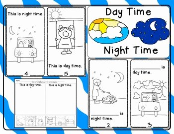 Day and Night Worksheet Luxury Day Time Night Time Emergent Reader and Response