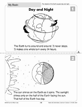 Day and Night Worksheet Unique Day and Night Earth & Space Science Rotation