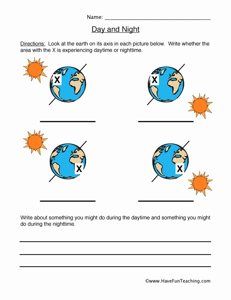 Day and Night Worksheet Unique Space Worksheets