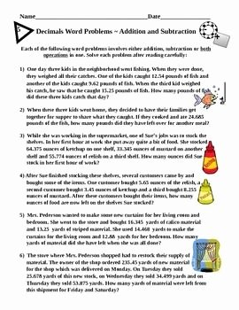 Decimals Word Problems Worksheet Unique 106 Best Decimals Images On Pinterest