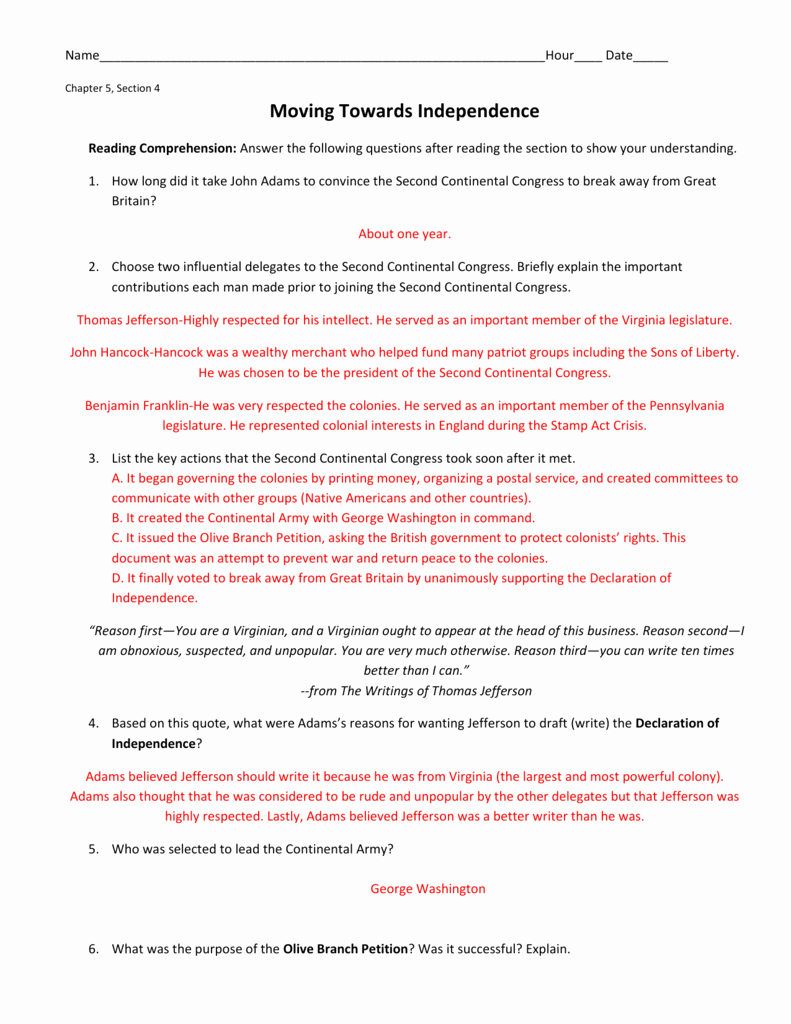 Declaration Of Independence Worksheet Answers Elegant Declaration Independence Grievances Worksheet Answer
