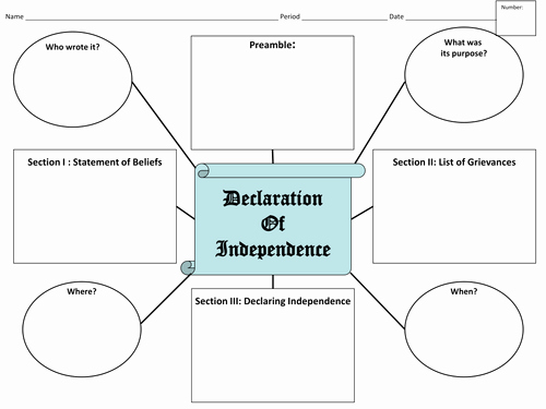 Declaration Of Independence Worksheet Answers Elegant the Declaration Of Independence by Jyoung121