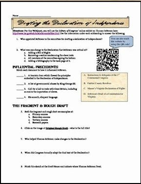 Declaration Of Independence Worksheet Answers Lovely Students Of History May 2014