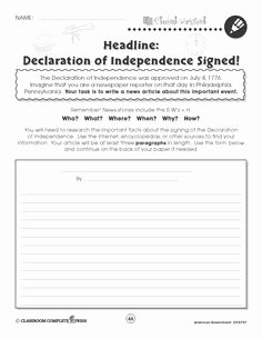 Declaration Of Independence Worksheet Answers New 1000 Images About Classroom Activities & Ideas Middle