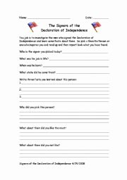 Declaration Of Independence Worksheet Answers Unique English Worksheets Signers Of the Declaration Of Independence