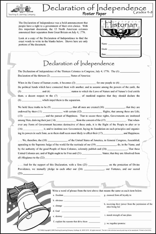 Declaration Of Independence Worksheet Awesome 25 Best Ideas About Declaration Independence On