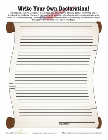 Declaration Of Independence Worksheet Elegant the Declaration Declaration Of Independence and