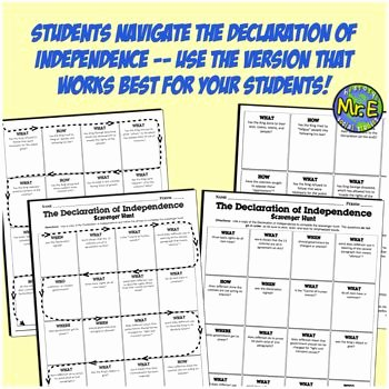 Declaration Of Independence Worksheet Inspirational Scavenger Hunt Student Worksheet Answer Key Example