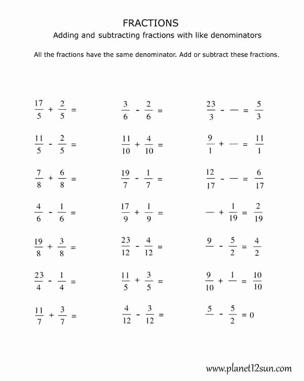 Decomposing Fractions 4th Grade Worksheet Inspirational Pin On Worksheets