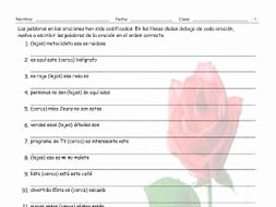 Demonstrative Adjectives Spanish Worksheet Inspirational Demonstrative Adjectives Spanish Scrambled Sentences