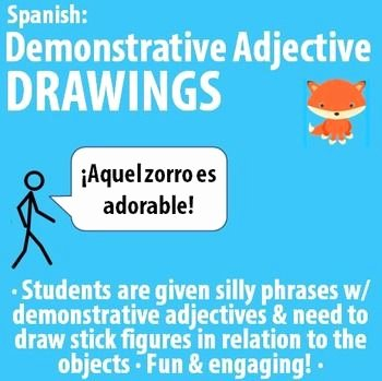 Demonstrative Adjectives Spanish Worksheet Luxury Spanish Demonstrative Adjectives Drawing Activity