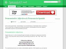 Demonstrative Adjectives Spanish Worksheet Unique Demonstrative Adjectives & Pronouns In Spanish 6th 12th