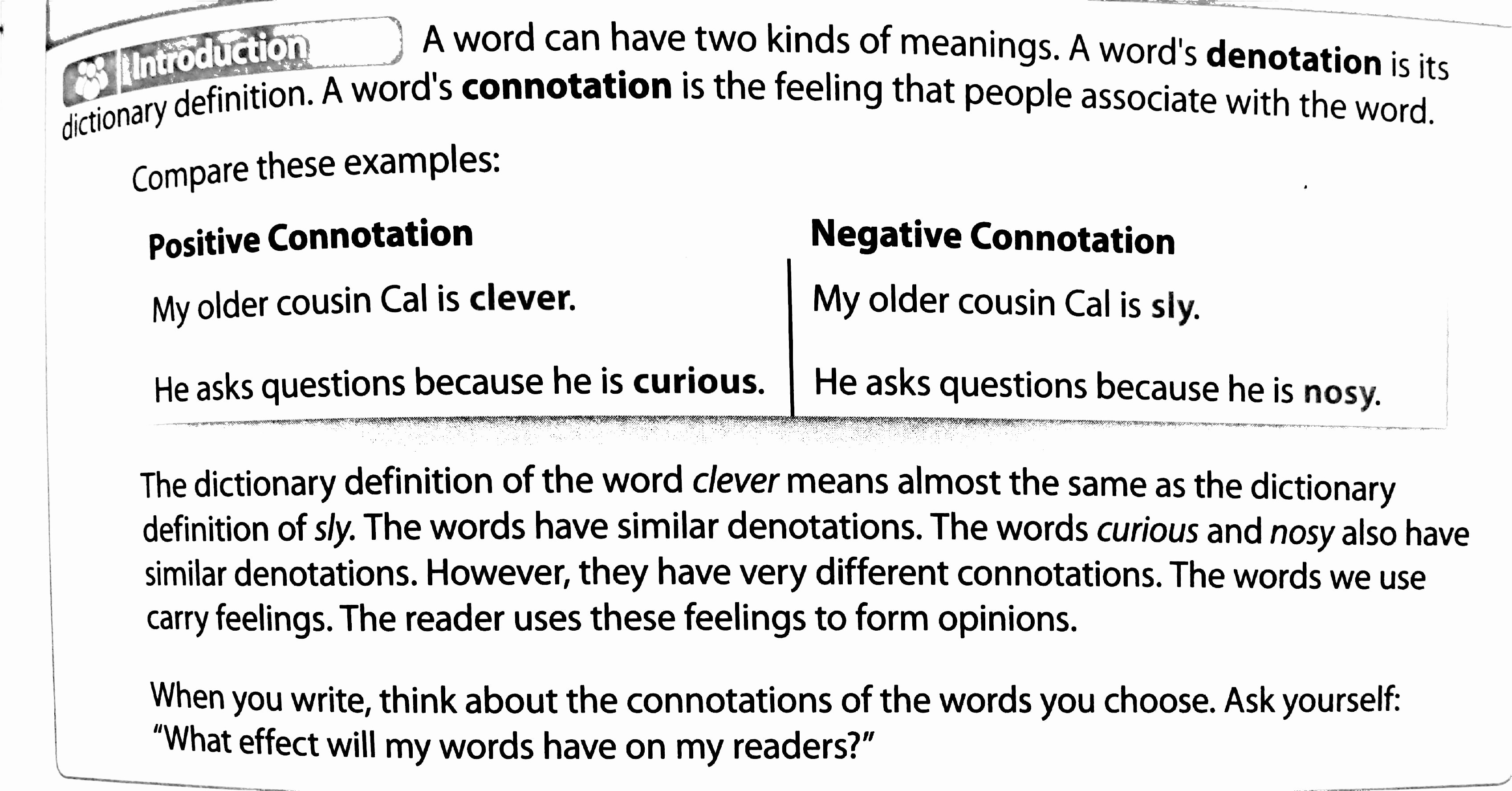 Denotation and Connotation Worksheet Best Of Denotation and Connotation Worksheet