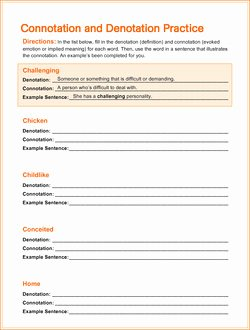 Denotation and Connotation Worksheet Luxury What S the Difference Between Connotation and Denotation