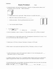 Density Calculations Worksheet 1 Inspirational U1 Properties and Density Worksheet Pdf Ledermann