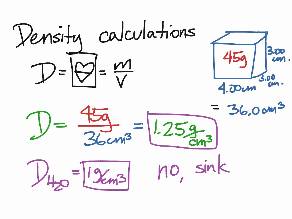Density Calculations Worksheet 1 Lovely Showme Science 8 Density Calculations Worksheet