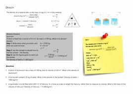 Density Calculations Worksheet Answers Elegant Density Calculations by Jlmorgan100