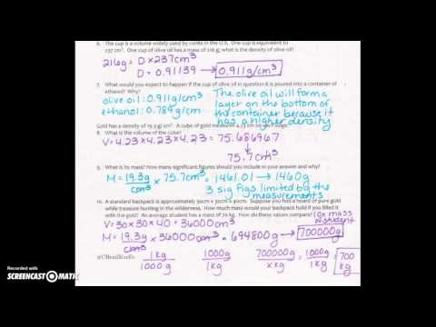 Density Practice Problem Worksheet Answers Beautiful Applied Density Practice