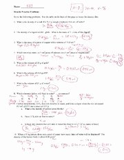 Density Practice Problem Worksheet Fresh Science Honors Che Cbs Course Hero