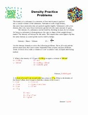 Density Practice Problems Worksheet Beautiful Density Problems Answer Key Density Practice Problems