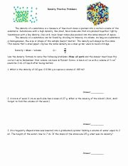Density Practice Problems Worksheet New Density Problems Answer Key Density Practice Problems