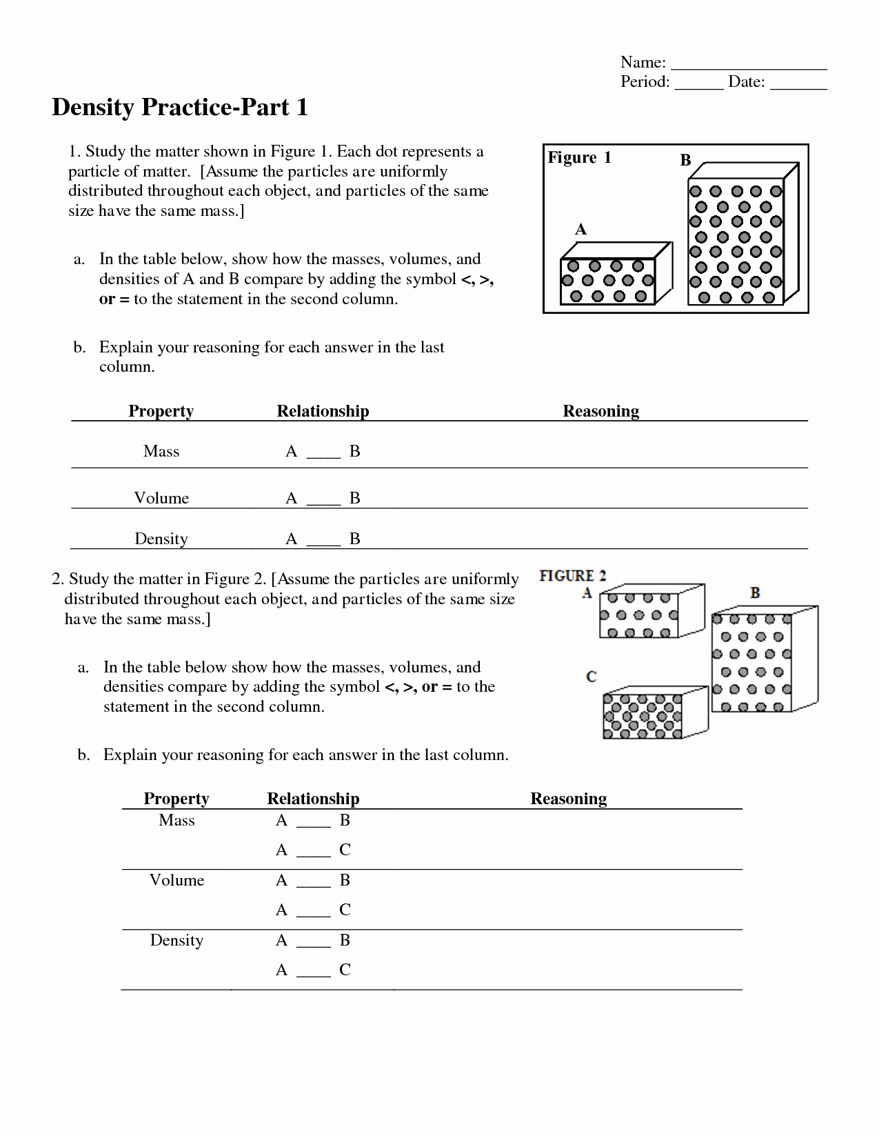 Density Worksheet Answer Key Best Of 10 Best Of Density Worksheet with Answer Key