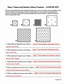 Density Worksheet Answer Key Inspirational Mass Volume and Density without Numbers by Science Garage