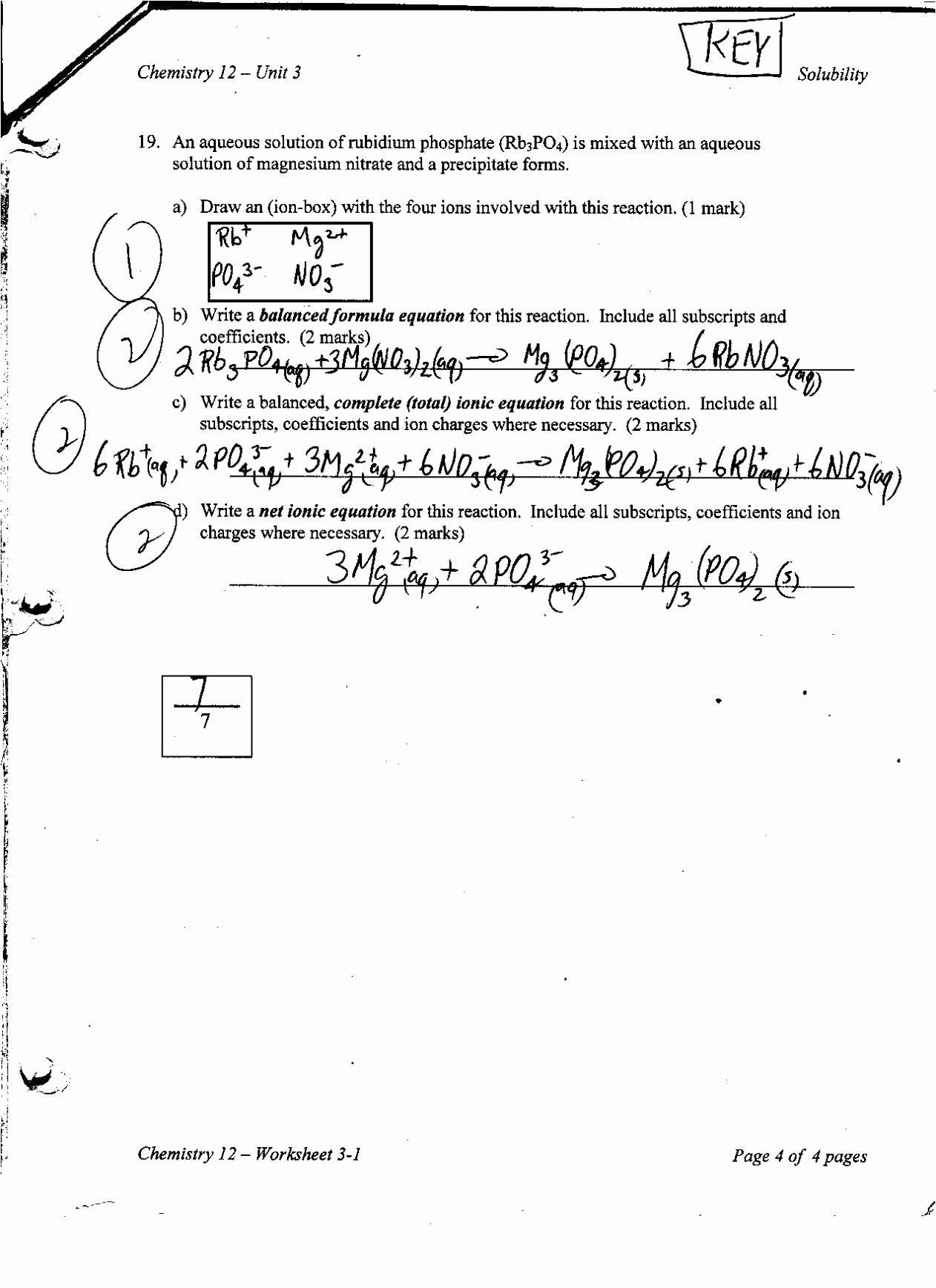 Density Worksheet Chemistry Answers Elegant Chemistry Unit 6 Worksheet 1 Answer Key