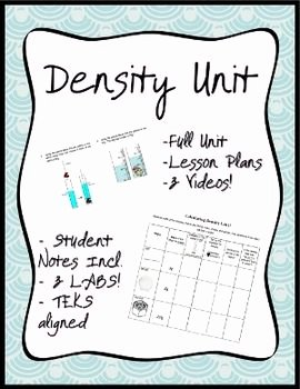 Density Worksheet Middle School Best Of Density Unit Everything You Need to Teach Density