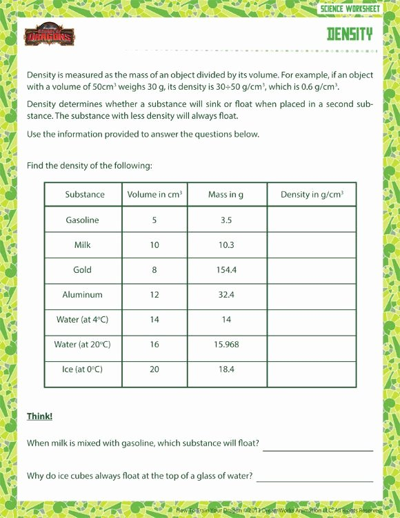 Density Worksheet Middle School Unique 186 Best Images About Middle School Science On Pinterest